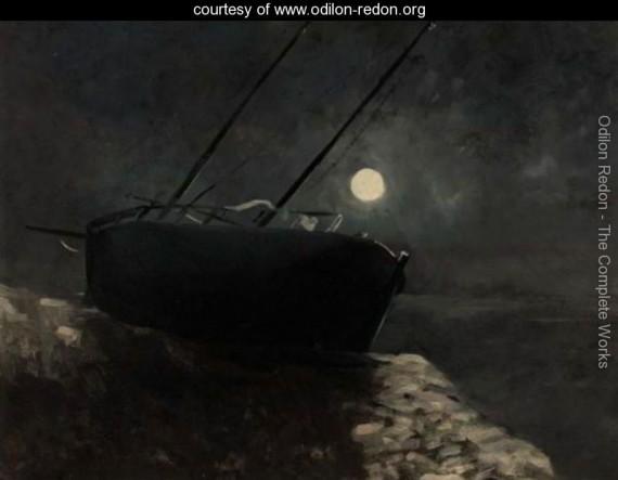 Redon Barque-Au-Clair-De-Lune