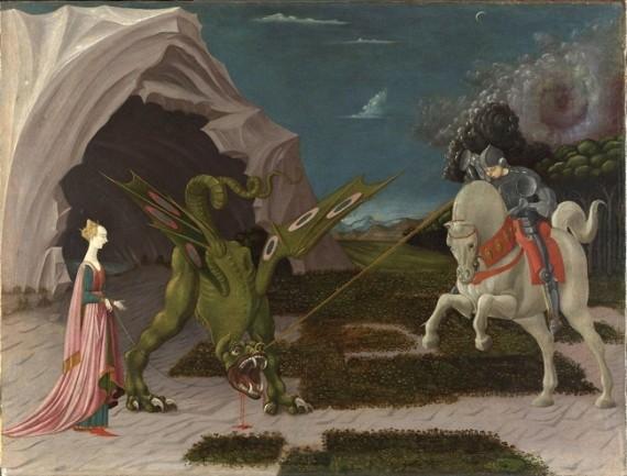 Uccello Saint Georges et le dragon