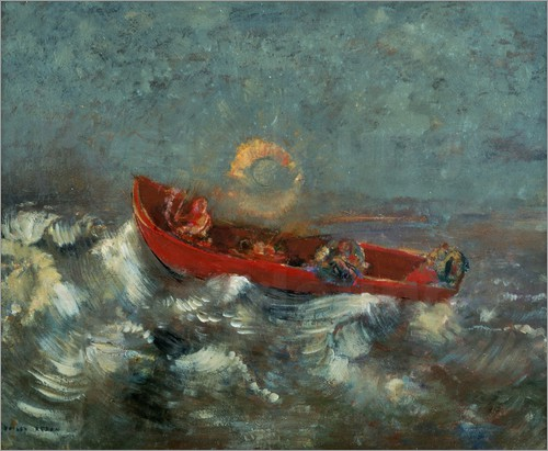 odilon-redon-the-red-boat-122663