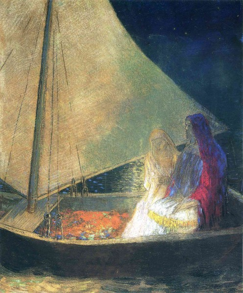 redon boat-with-two-figures-1902