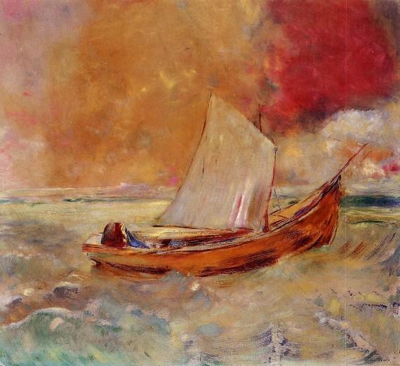 redon yellow-boat