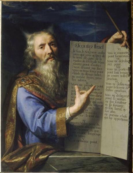 Moise et tables loi