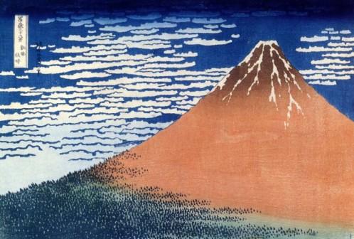 Hokusai-Mont-le-Fuji-rouge