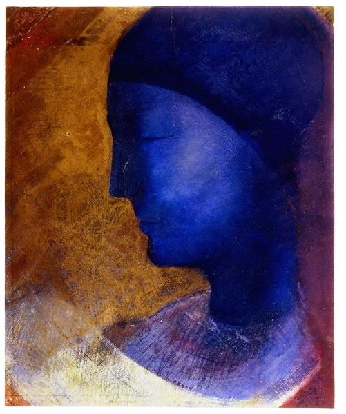 Portrait-Face-Painting-Odilon-Redon-La-Cellule-dOr