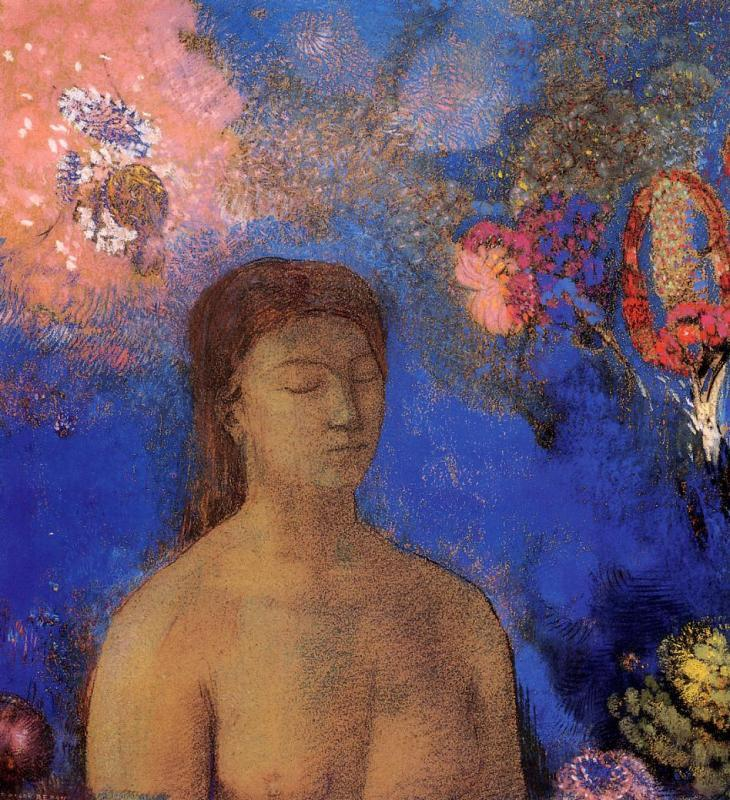 redon Closed Eyes c. 1895