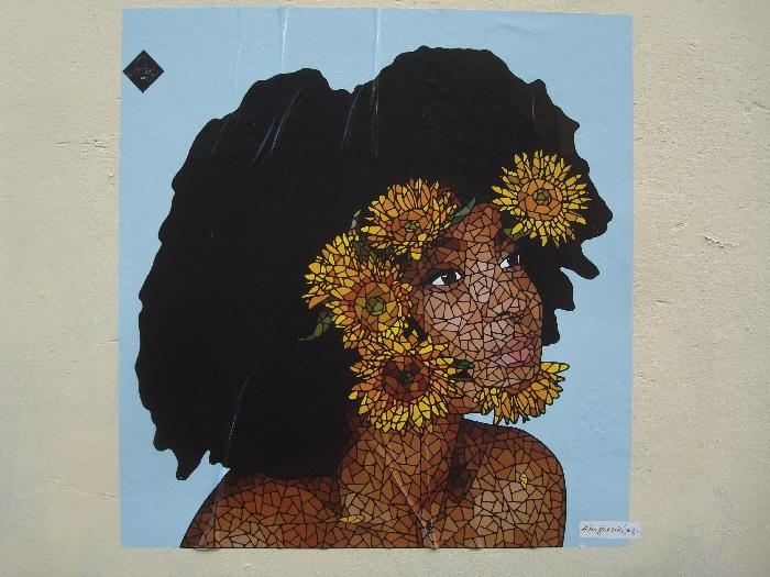 visage fleurs
