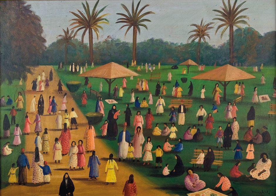 Marguerite Nakhla : « Scène dans le parc »