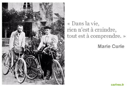 pierre et marie curie à vélo