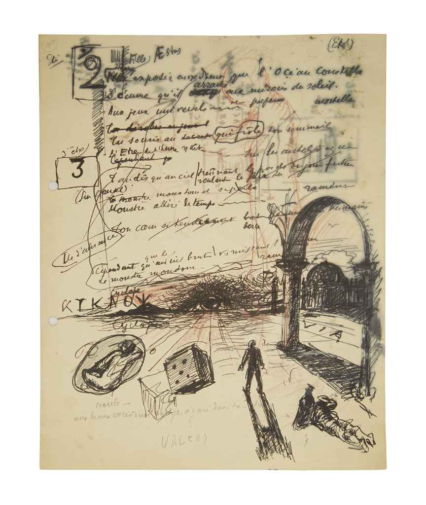 valery_paul_ete_manuscrit_autographe_de_brouillon_charge_de_dessins_-min