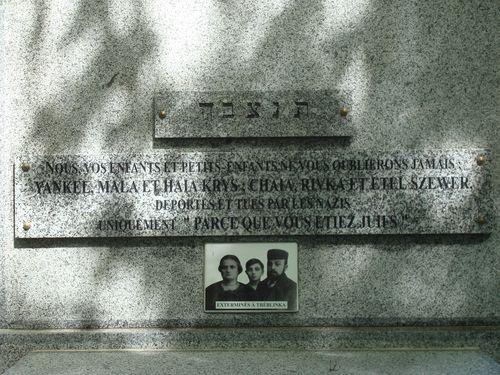 juifs déportés et tués cimetiere montmartre