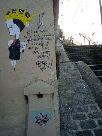 street art escalier montmartre