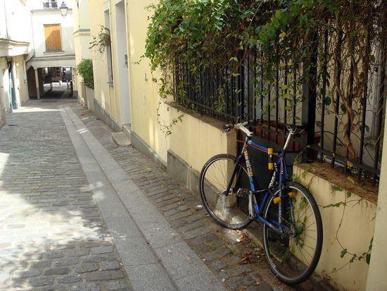 street art feuilles et vélos