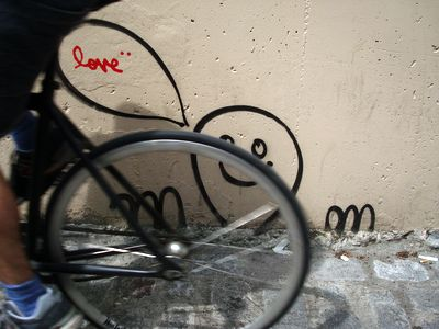 street art love et velo