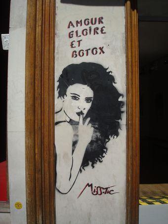 street art miss tic,