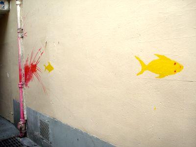 street art poissons