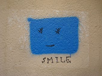 street art smile