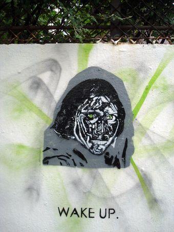 street art wake up