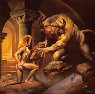 Ariane et le Minotaure, par Boris Vallejo