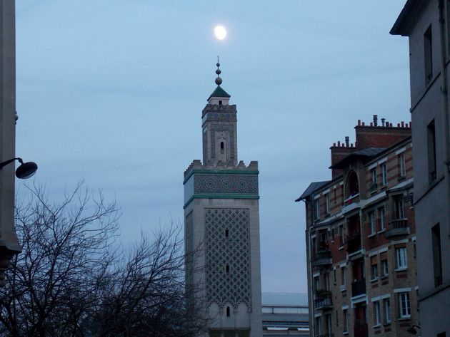 lune et mosquee
