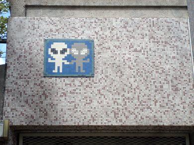 vu dans la rue 3 space invader