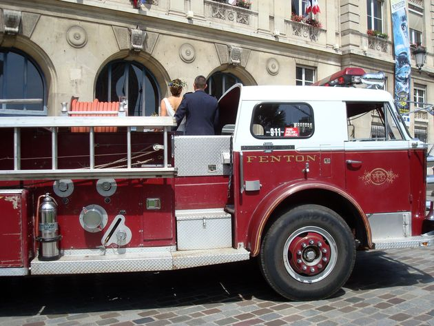mariage pompier