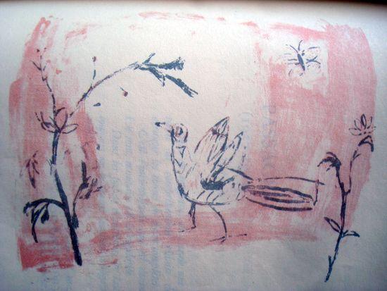 """reproduction de la  lithographie n°8 de Zao Wou-ki dans """"Lecture de huit lithographies de Zao Wou-ki"""" par Henri Michaux"""
