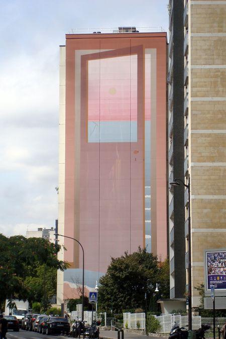 """""""La porte"""", fresque de Jean-Michel Folon au 180 rue Nationale (1985)"""