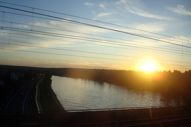 coucher de soleil du rer