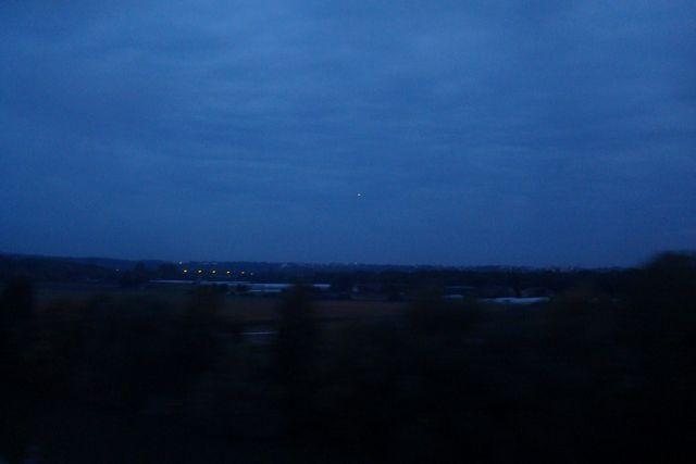 L'étoile du matin, vue ce matin du RER