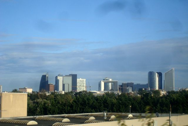 La Défense vue du RER, aujourd'hui, photo Alina Reyes