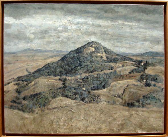 """André Boubounelle, """"Colline à Volterra"""", 2010. Huile sur toile, 81x100"""