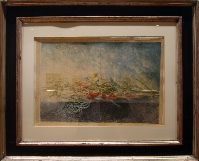 "Jean-Pierre Velly, ""Fiori di Spagna"", 1983. Aquarelle sur papier, 39x56"
