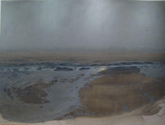 """Philippe Garel, """"Flux"""", 2011. Huile sur toile, 259x345 cm"""