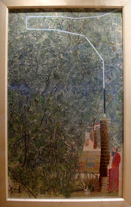 """Sam Szafran, """"Sans titre"""", 2016. Aquarelle sur soie, 240x150"""