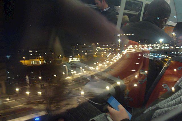 du RER, de nuit