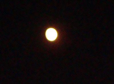 la lune ce soir à la sortie du lycée en attendant mon bus de banlieue