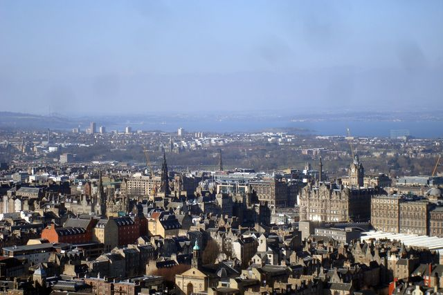 edimburgh from arthur seat
