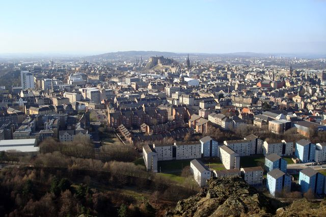 edinburgh from arthur seat