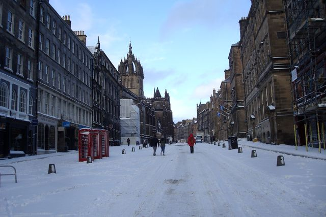 edimbourg neige 9