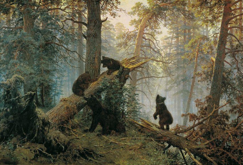 Un matin dans une forêt de pins, par Ivan Shishkine et Constantin Savitsky