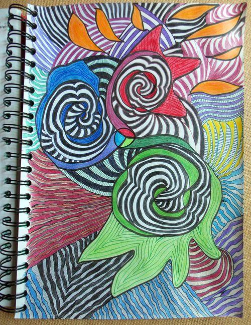 Triskel dessiné avant-hier dans mon cahier d'écriture
