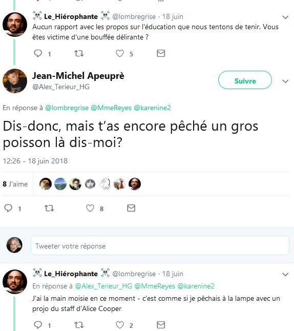 Screenshot-2018-6-21 Jean-Michel Apeuprè sur Twitter Dis-donc, mais t'as encore pêché un gros poisson là dis-moi …