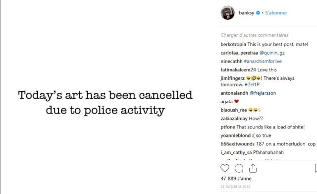 Screenshot_2018-10-07 Banksy ( banksy) • Photos et vidéos Instagram