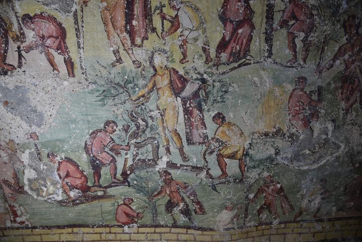 Dionysos et autres dieux défrichant la cité.  Julien ALIQUOT/ HiSoMA 2018