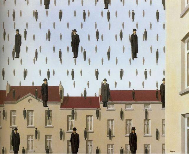 "René Magritte, ""Golconde"", 1953"