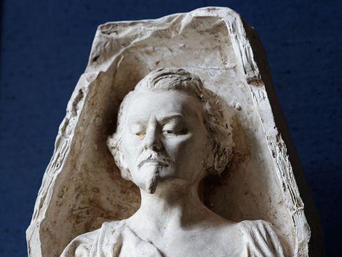 """""""La Gloire tirant Auguste de Villiers de l'Isle Adam de son sommeil éternel"""" par Frédéric Brou, musée Carnavalet"""