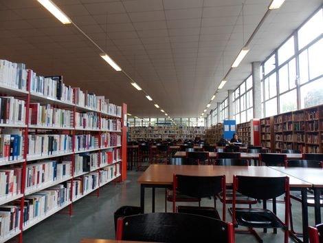 Hier à la Bibliothèque universitaire de la Sorbonne nouvelle, photo Alina Reyes