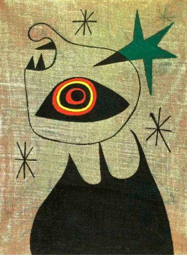 """Joan Miro, """"Femme, étoiles"""", 1944"""