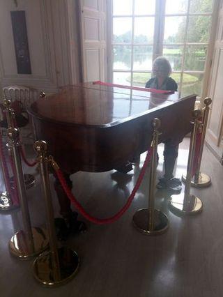 Le mois dernier en train de jouer quelques notes de Tchaïkovski au château d'Ermenonville, photographiée par O