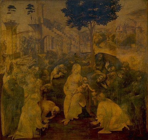 Léonard de Vinci, L'Adoration des mages (inachevé)